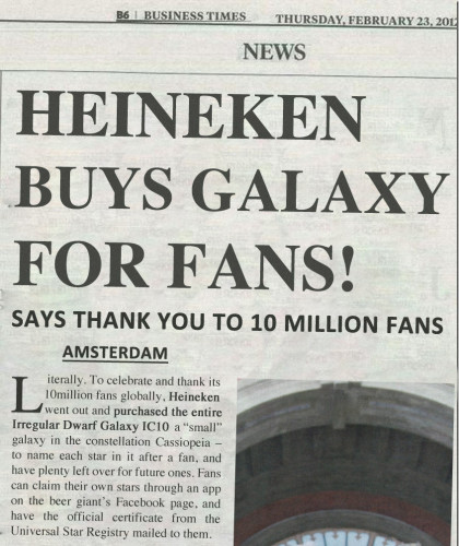 Heineken Galaxy feature image